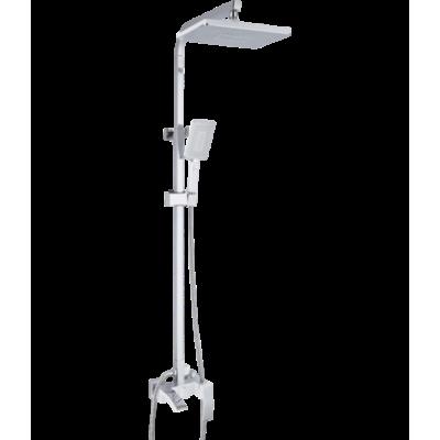 Душевая система ROSE R1536F белый/хром