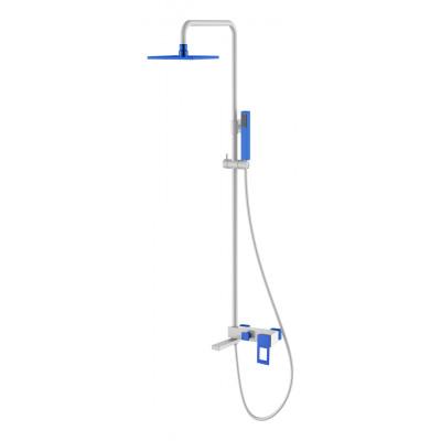 Душевая стойка Boheme Q 148-WUV белый/ультрамарин