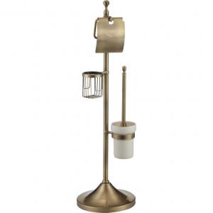 Многофункциональная напольная стойка с держателем для т/бумаги, освежителя и ершика Ganzer GZ30037D