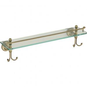 Полка стеклянная с крючками Ganzer GZ31007D