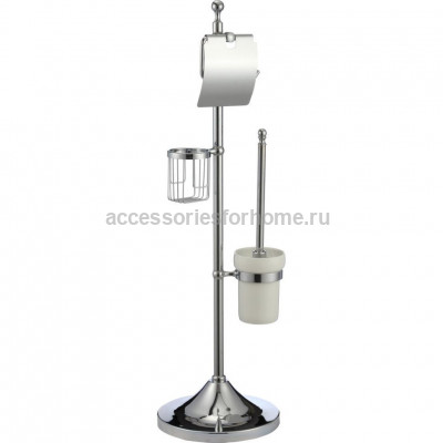 Напольная стойка с держателем для т/бумаги, освежителя и ершика Ganzer GZ 30037