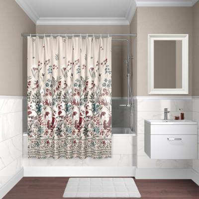 Штора для ванной комнаты, 180*180см, полиэстер, D03P118i11, IDDIS