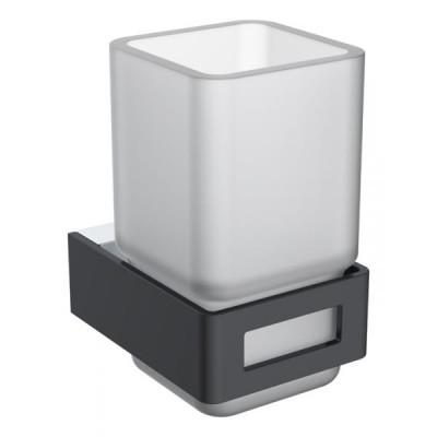 Boheme Q 10944-CR-B Стакан для зубных щеток (Хром/черный)