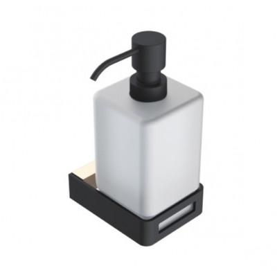 Boheme Q 10957-G-B Диспенсер для мыла настенный (Золото/черный)