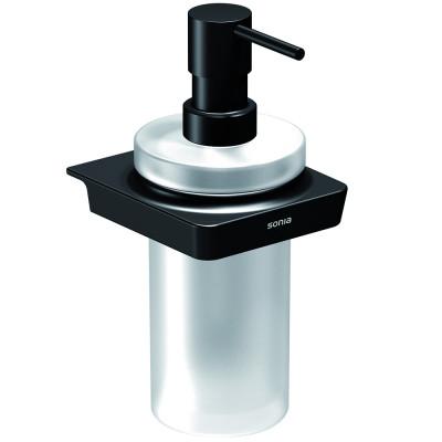 Дозатор Sonia S6 166466 матовое стекло, черный матовый