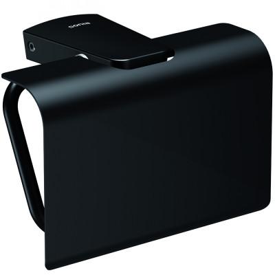 Держатель туалетной бумаги Sonia S6 166473 с крышкой, черный матовый