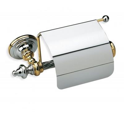 Держатель для талетной бумаги с крышкой StilHaus Giunone хром/золото G11c(02)