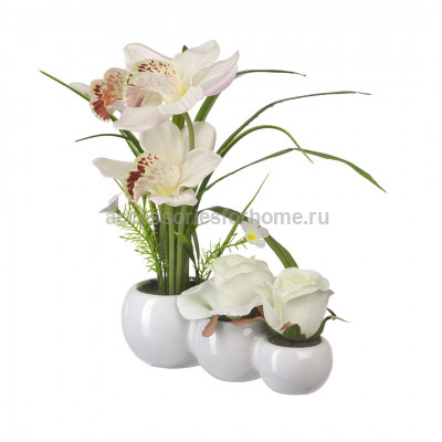 Цветочная композиция Орхидея и Роза Engard YW-30