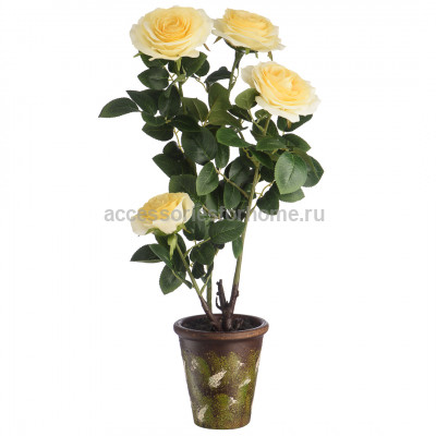 Цветочная композиция Желтая Роза Вещицы YW-42