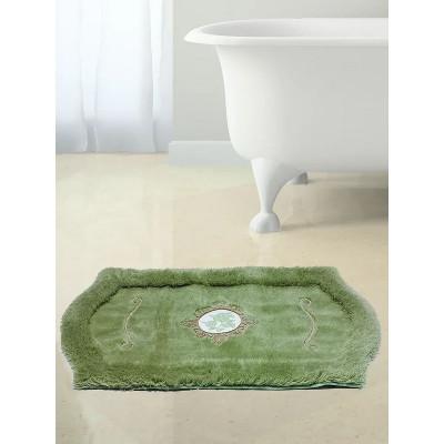 Коврик с вышивкой для ванной зелёный 100x60см BathPlus Royal HLFT21050-1