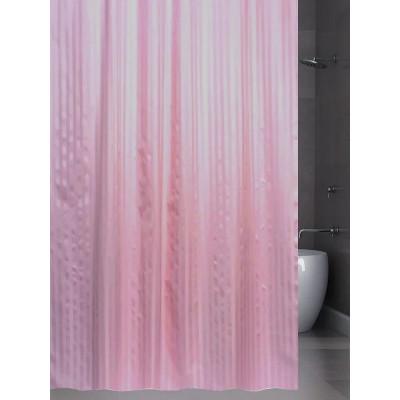 Штора для ванной 240х200 BathPlus ST-003 розовый