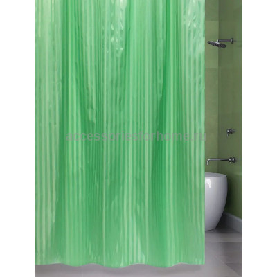 Штора для ванной 240х200 BathPlus ST-004 зеленый