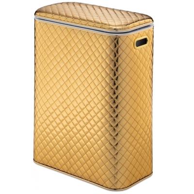 Корзина для белья Geralis SGG-B ромб стеганный золото , кант золото, стандартная