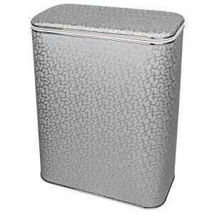 Корзина для белья Geralis FHH-B FLOWER серебро, кант хром, стандартная