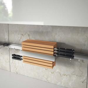 7130Е Держатель для ножей вертикальный 350х110х205 мм LEMI BARRA нержавейка