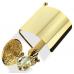 Держатель туалетной бумаги с крышкой со стеклом Murano, StilHaus Noto Light золото NT11сV(16)