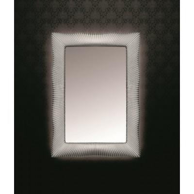 Зеркало Boheme Soho 522 80x120 прямоугольное, с подсветкой, цвет серебро