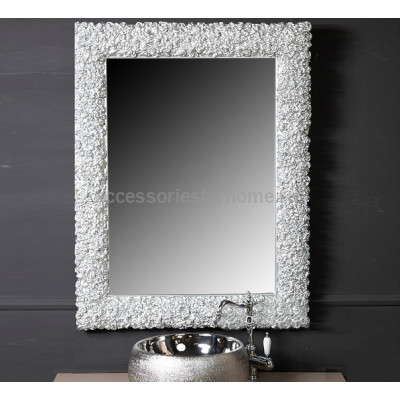 Зеркало Boheme Rose 547 85x110, цвет серебро