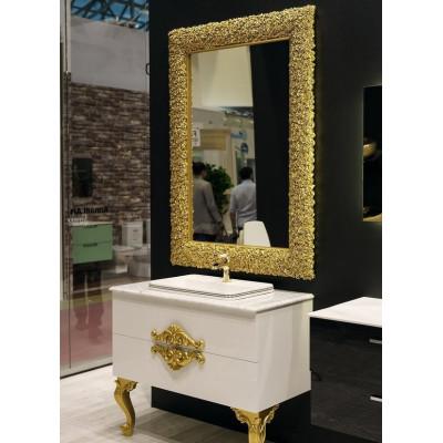 Зеркало Boheme Rose 539 100x140, цвет золото