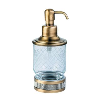 Дозатор настольный Boheme Royale Cristal бронза 10929-BR