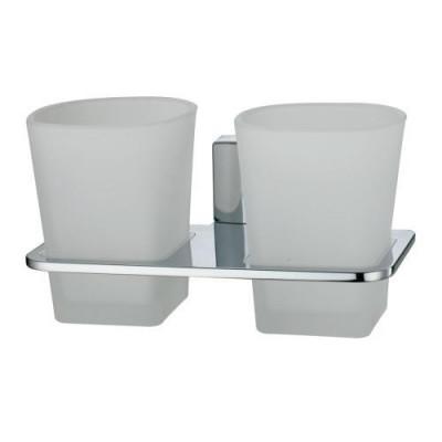 Подстаканник двойной стеклянный  WasserKraft Leine К-5028D