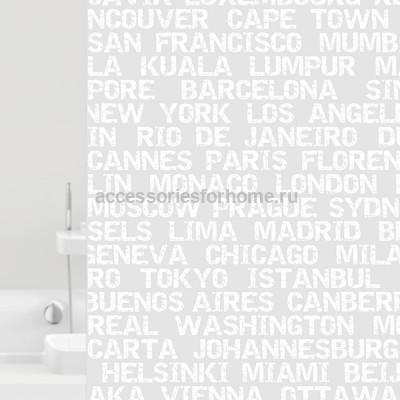 Штора для ванной 180x200 Bacchetta CITY  6023