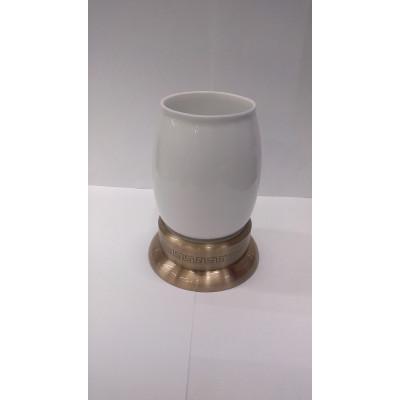 Стакан настольный керамика Fuente Real Hestia бронза R22-1