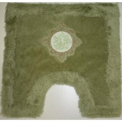Коврик с вышивкой под туалет зелёный 50x50см BathPlus Royal HLFT21050-0