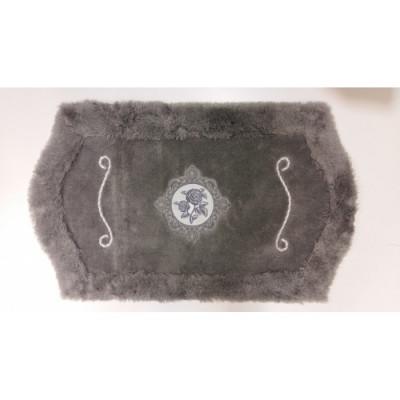 Коврик с вышивкой для ванной серый 100x60см BathPlus Royal HLFT21040-1