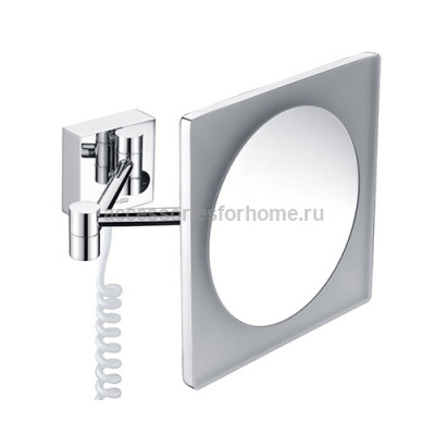 Зеркало с LED-подсветкой, 3-х кратным увеличением WasserKraft K-1008