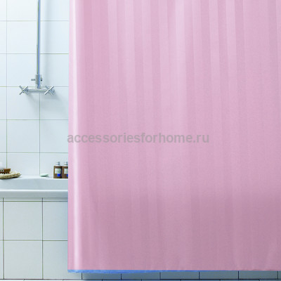 Штора для ванной 240х200 Bacchetta RIGONE розовая 6043