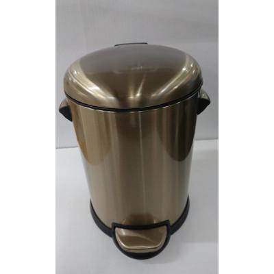 Ведро д/мусора 5л. с микролифтом Fuente Real Hestia бронза R25-1