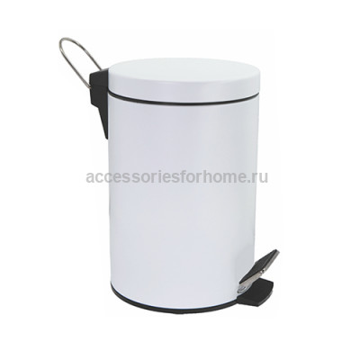 Ведро д/мусора  5л. с микролифтом WasserKraft K-635 White