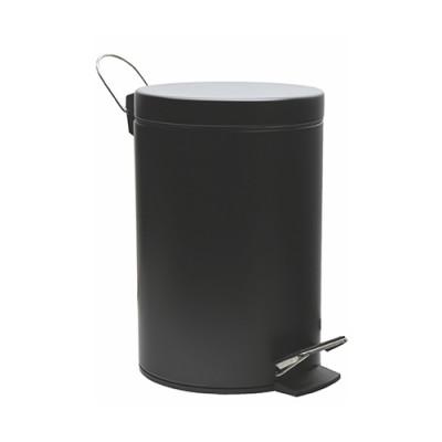 Ведро д/мусора  5л. с микролифтом WasserKraft K-635 Black