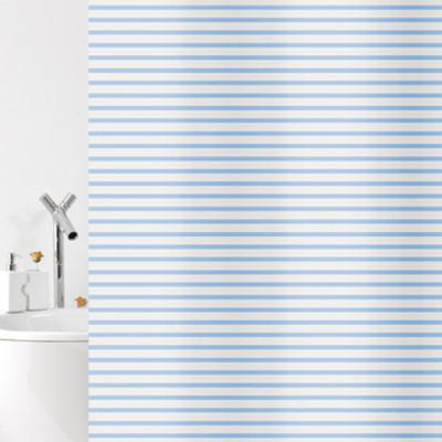 Штора для ванной 180х200 Bacchetta Verga синяя  6896