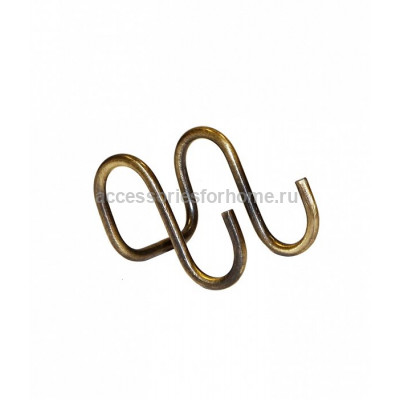 3410В Крючок двойной, старая бронза Lemi