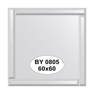 Зеркало с зеркальным обрамлением 60х60 см. EVOFORM BY-0805