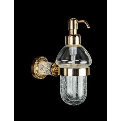 Диспенсер для жидкого мыла Boheme Murano Crystal 10912-CRST-G (Золото)