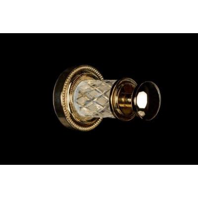 Крючок для ванной комнаты Boheme Murano Crystal 10906-CRST-G (Золото)