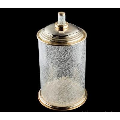 Контейнер для ванной Boheme Murano crystal 10914-CRST-G , золото