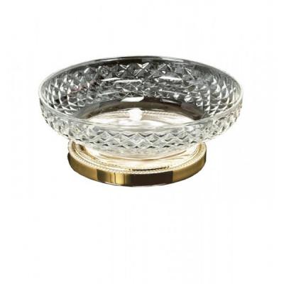 Мыльница настольная Boheme Cristal 10205 , золото/хрусталь