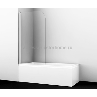 Стеклянная шторка для душа, распашная, одностворчатая WasserKraft Leine 35P01-80