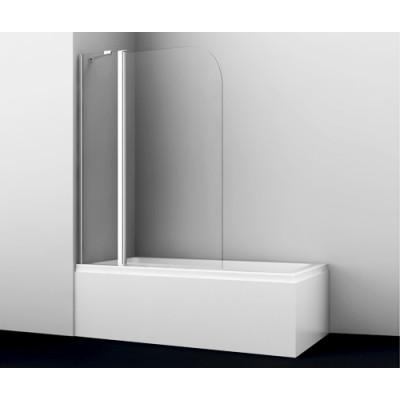 Стеклянная шторка для душа, распашная, двухстворчатая WasserKraft Leine 35P02-110 Fixed