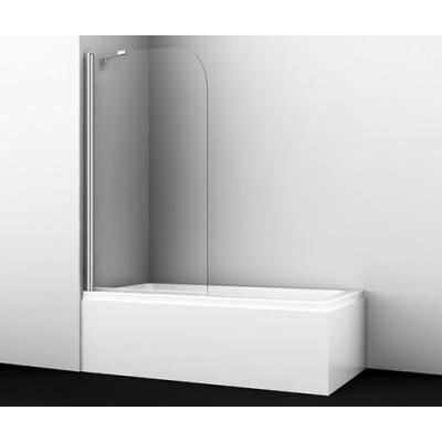 Стеклянная шторка для душа, распашная, одностворчатая, с фиксатором WasserKraft Leine 35P01-80 Fixed