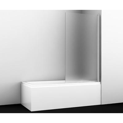 Стеклянная шторка для душа, распашная, одностворчатая WasserKraft Berkel 48P01-80R Matt glass