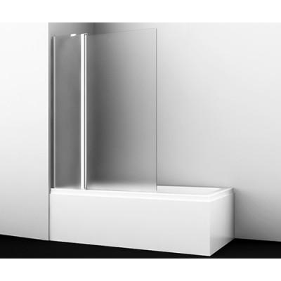 Стеклянная шторка для душа, распашная, двухстворчатая WasserKraft Berkel 48P02-110L Matt glass Fixed