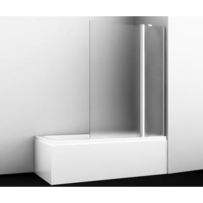 Стеклянная шторка для душа, распашная, двухстворчатая WasserKraft Berkel 48P02-110R Matt glass Fixed