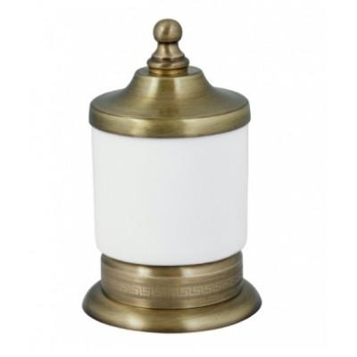 Баночка для ватных дисков бронза Boheme Medici 10626