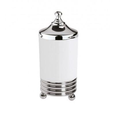 Баночка для ватных дисков хром Boheme Hermitage 10394
