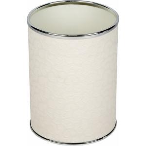 Мусорное ведро Geralis M-FWH-B белое, хром, 3 л
